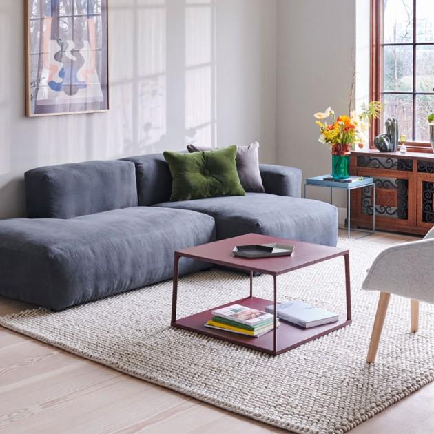 Alfombra de lana Peas de HAY color soft grey en Moises Showroom