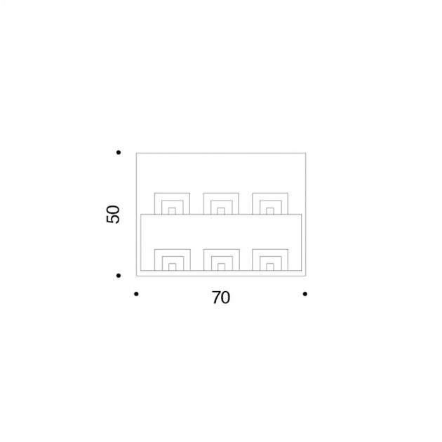 dimensiones lámina de serigrafía Le Porte Danese Milano