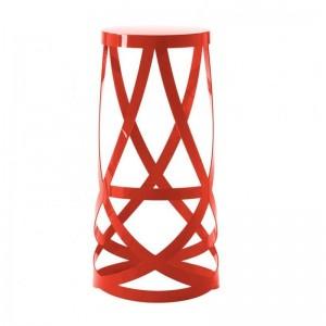 Taburete Ribbon alto rojo Cappellini