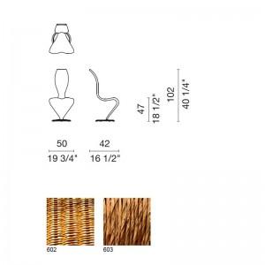 dimensiones y materiales Silla S Capellini