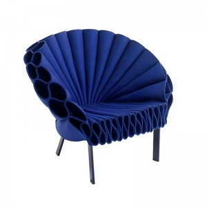 sillón peacock azul Cappellini