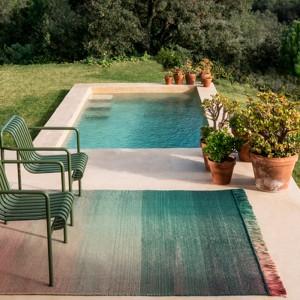 jardín con Alfombra Shade Palette 3 exterior Nanimarquina