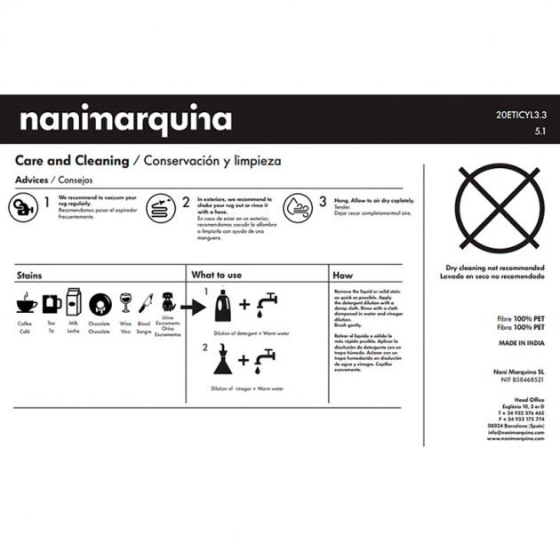 cuidados Alfombra silhouette Nanimarquina