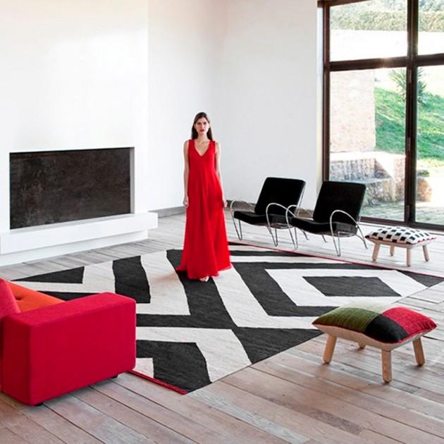 salón con alfombra Melange Zoom Nanimarquina