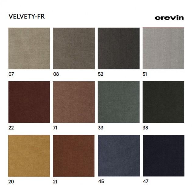 Tapicería Velvety de Crevin para silla Omelette-Ed