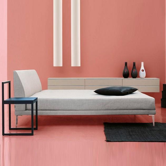 dormitorio cama Bed cappellini gris