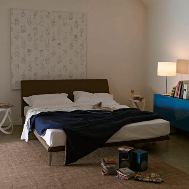 dormitorio cama Bed cappellini piel