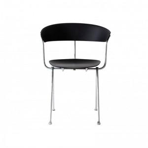 asiento silla Officina polipropileno negra galvanizada Magis