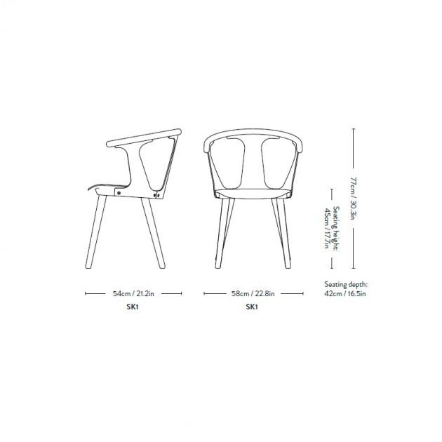 dimensiones silla In between SK1 &Tradition