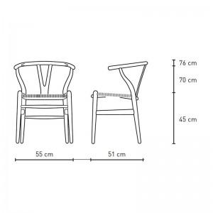Silla Wishbone CH24 de Carl Hansen medidas