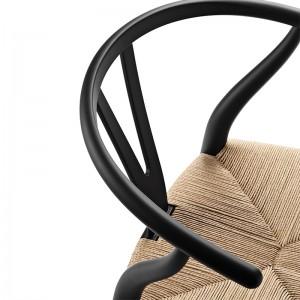 Silla Wishbone CH24 de Carl Hansen edición especial Soft color negro