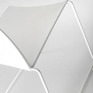 Silla M1 Outdoor de MDF Italia color blanco base barnizada blanco