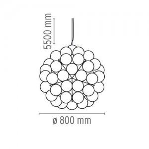 Lámpara Taraxacum 88 S Flos medidas