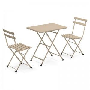 Pack mesa y sillas plegables Arc en Ciel - Emu