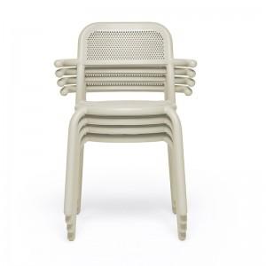 silla de exterior apilable Toní Fatboy desert