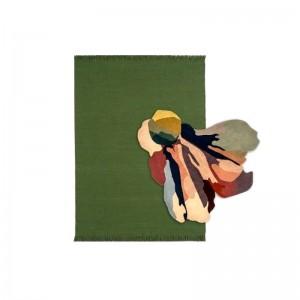 alfombra Flora Bloom 1 sobre alfombra Colors Nanimarquina