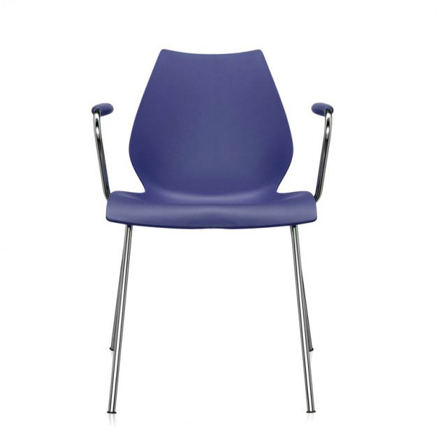 comprar silla Maui con brazos Kartell azul marino