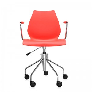 comprar silla Maui púrpura con ruedas Kartell