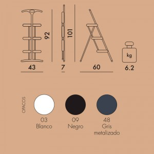 medidas y colores Tiramisu escalera Kartell