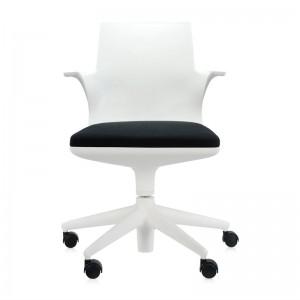 silla con ruedas Spoon chair Kartell blanca