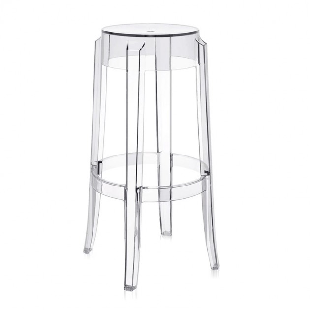 taburete alto Charles Ghost Kartell cristal
