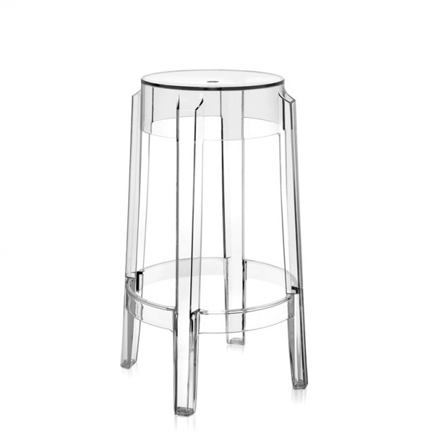 taburete mediano Charles Ghost Kartell cristal