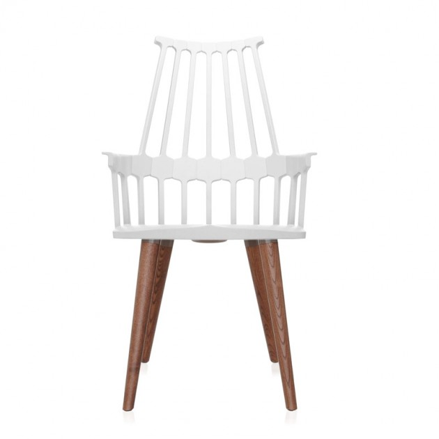 silla comback 4 patas roble/ blanca  Kartell
