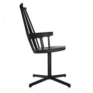 comprar silla comback giratoria negra Kartell