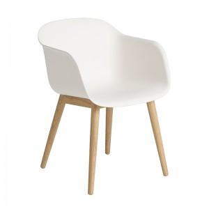 Silla Fiber Armchair Wood white de Muuto