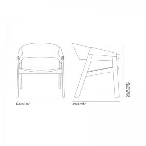 Medidas Cover Lounge Chair de Muuto en Moises Showroom