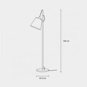 Medidas Lámpara de pie Pull Floor de Muuto en Moises Showroom