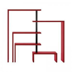 Estantería Joy 5 estantes roja Zanotta