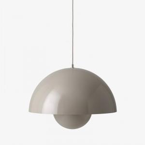 lámpara de suspensión Flowerpot VP2 AndTradition gris beige