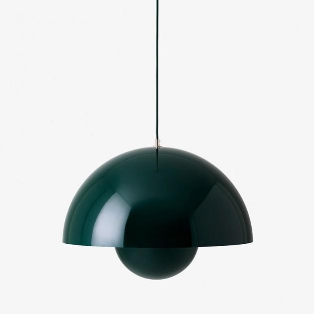 lámpara de suspensión Flowerpot VP2 AndTradition verde oscuro