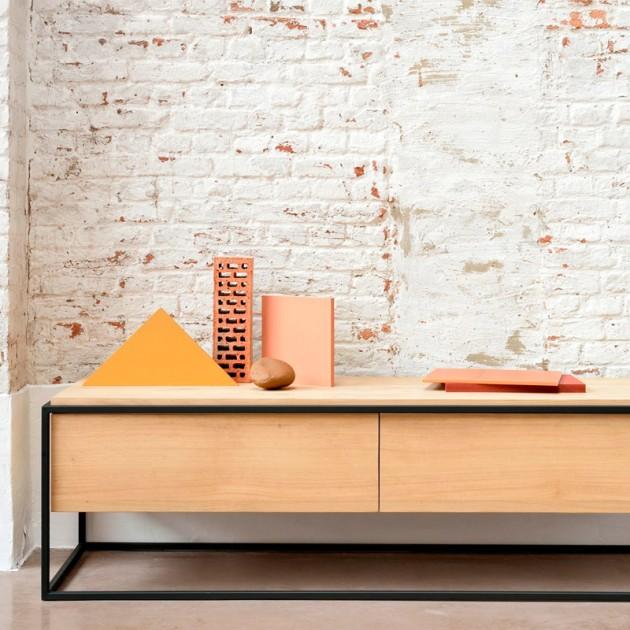mueble de televisión Monolit para el salón Ethnicraft