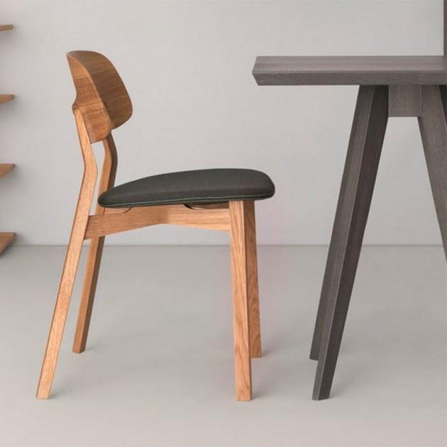silla Nonoto roble tapizada piel Zeitraum