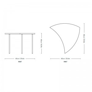 medidas mesa Pinwheel HM7 Andtradition