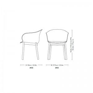 medidas silla Elefy JH30 Andtradition