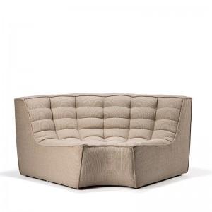 sofá N701 esquina redondeada beige Ethnicraft