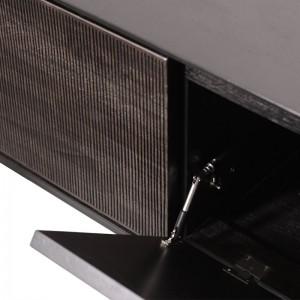 detalle puerta abatible mueble de TV Grooves teca Ethnicraft
