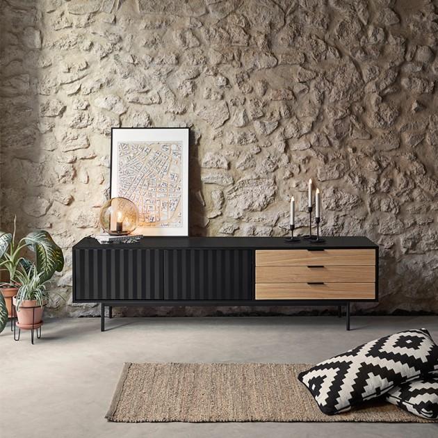 Mueble TV Sierra negro de Teulat en Moises Showroom