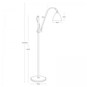 medidas Lámpara Bestline BL3 Gubi diámetro 16