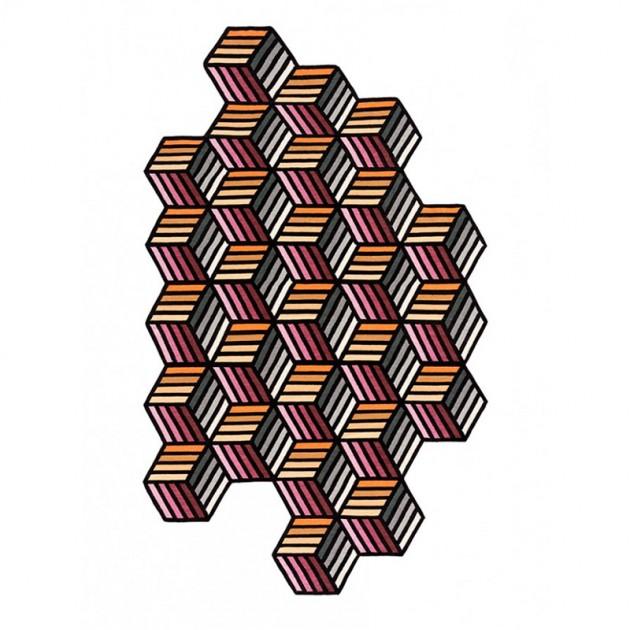 Alfombra Kilim Parquet Hexagon Gan