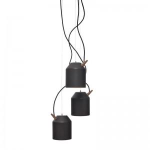 Lámpara Reeno Chandelier Omelette negra