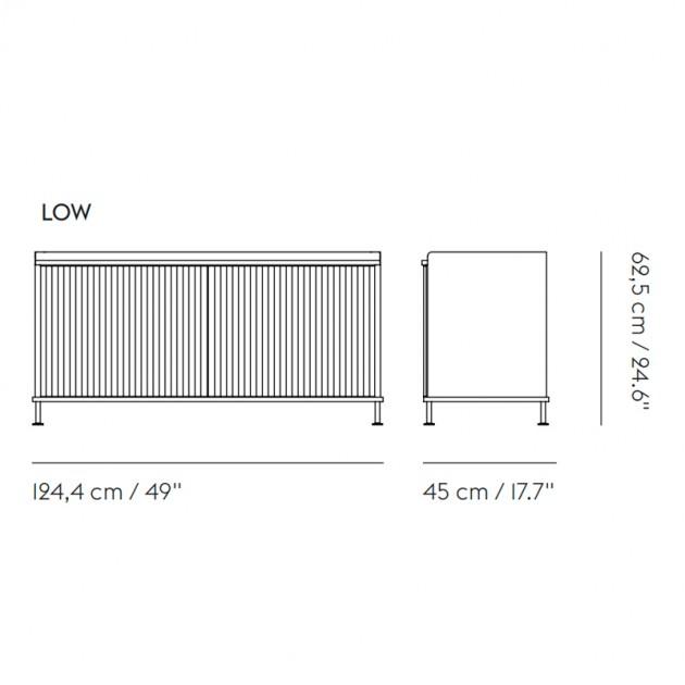 Medida Aparador Enfold Sideboard Low de Muuto en Moises Showroom