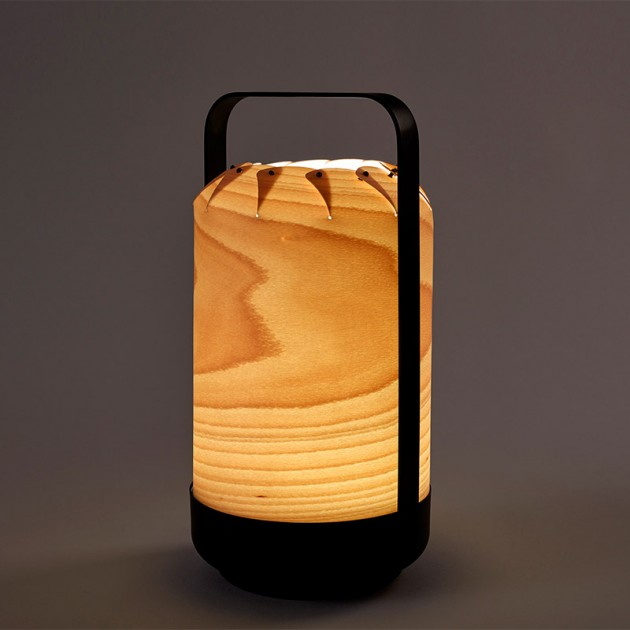 Luz lámpara portátil Mini chou Luzifer naural beech