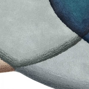 Detalle alfombra Crystal Blue de Gan Rugs en Moises Showroom