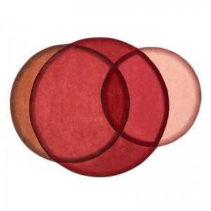 Alfombra Crystal Red de Gan Rugs en Moises Showroom