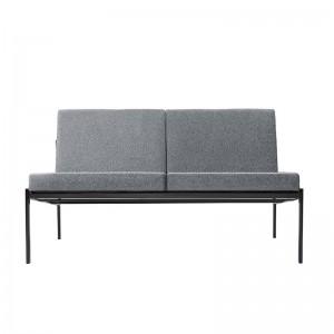 sofá 2 plazas Kiki Artek tapizado gris