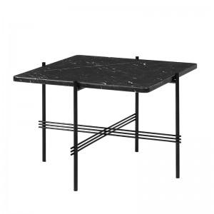 Mesa TS square 55x55 black marquina marble de Gubi en Moises Showroom